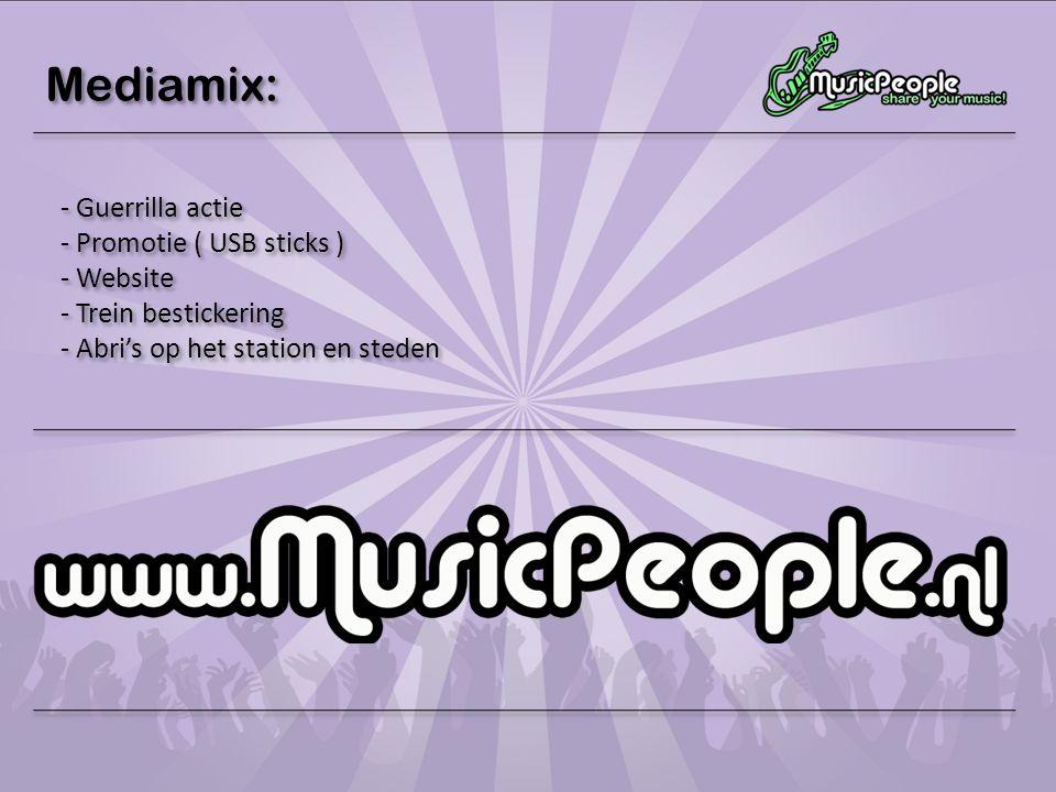 Mediamix: Guerrilla actie Promotie ( USB sticks ) Website