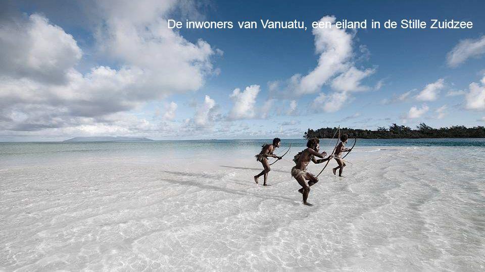 De inwoners van Vanuatu, een eiland in de Stille Zuidzee