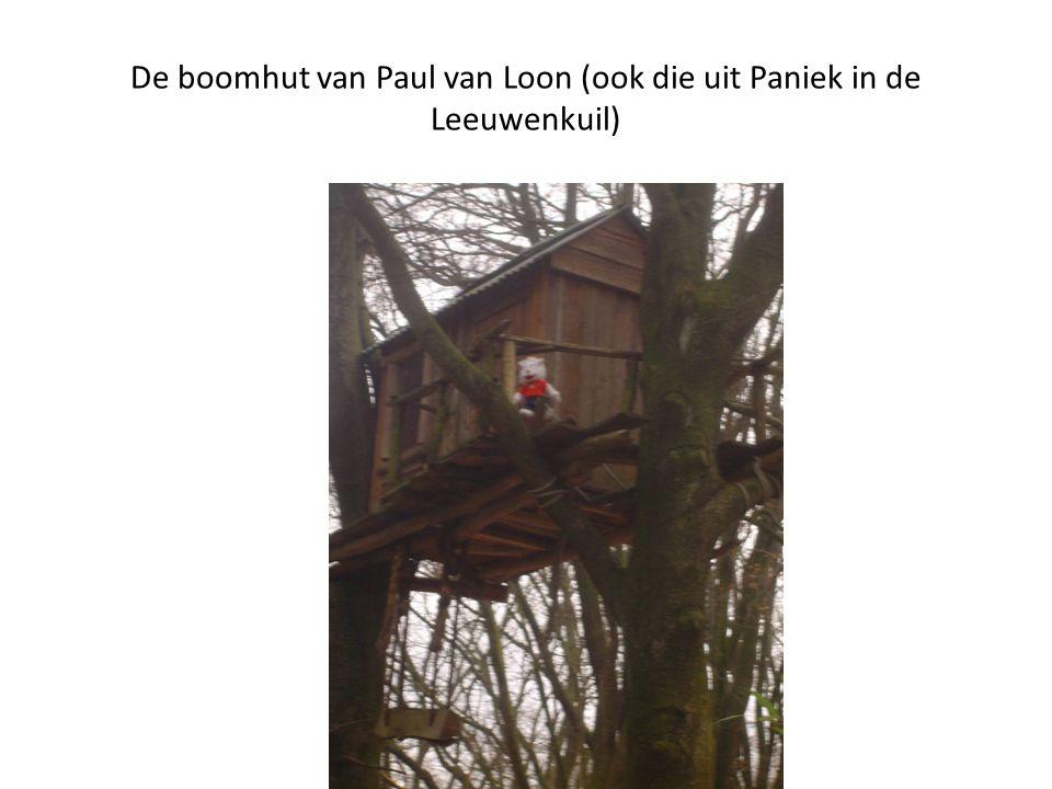 De boomhut van Paul van Loon (ook die uit Paniek in de Leeuwenkuil)