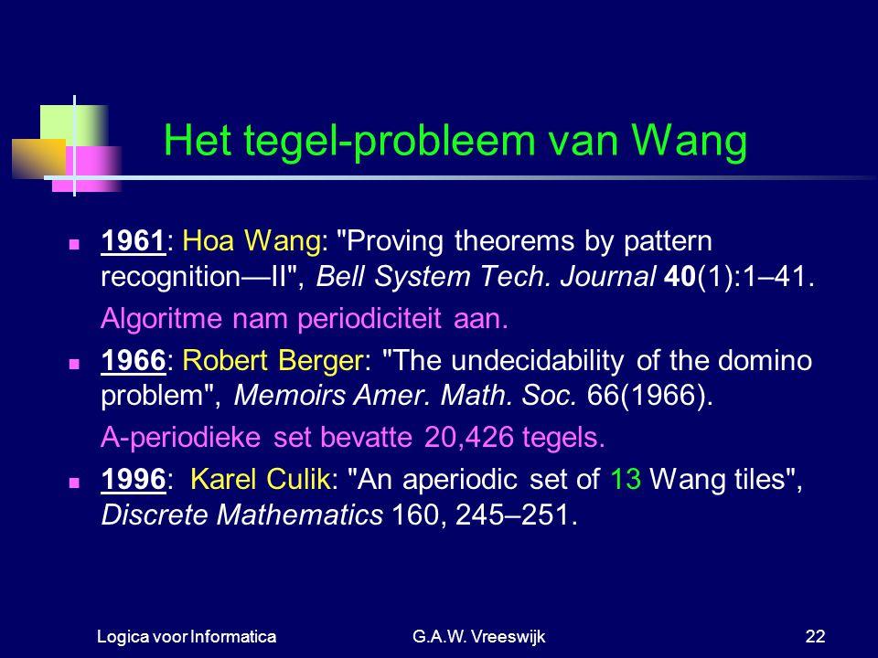 Het tegel-probleem van Wang
