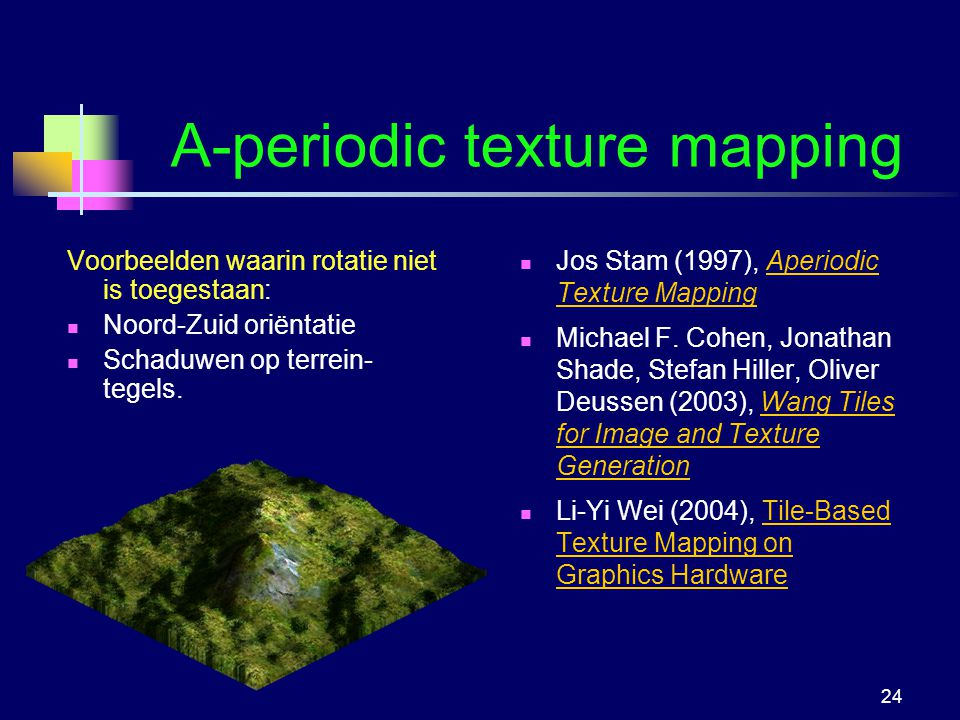 A-periodic texture mapping