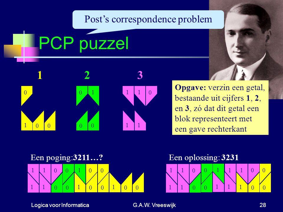 Post's correspondence problem