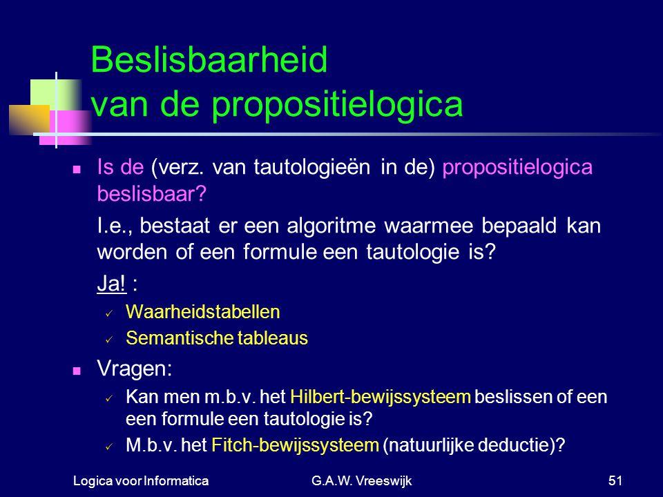 Beslisbaarheid van de propositielogica