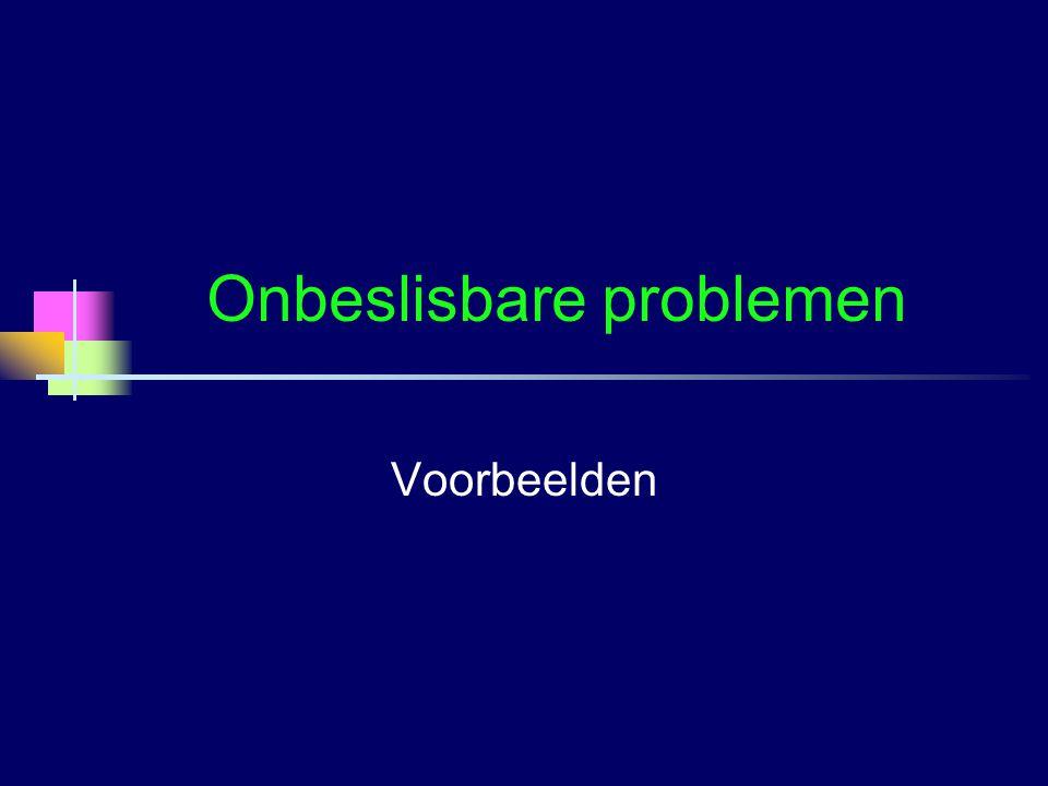 Onbeslisbare problemen