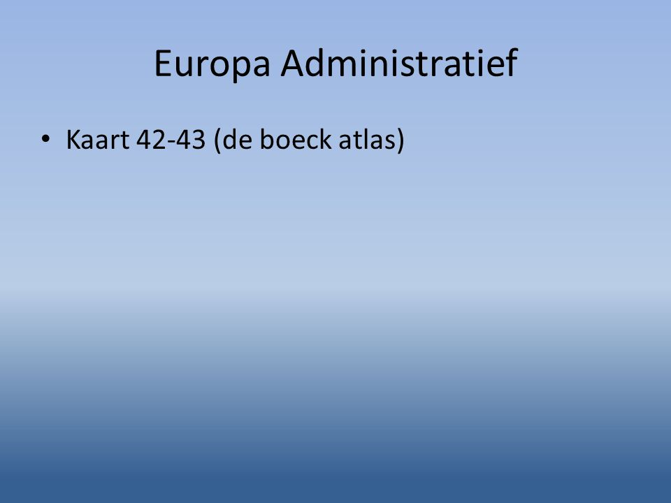Europa Administratief