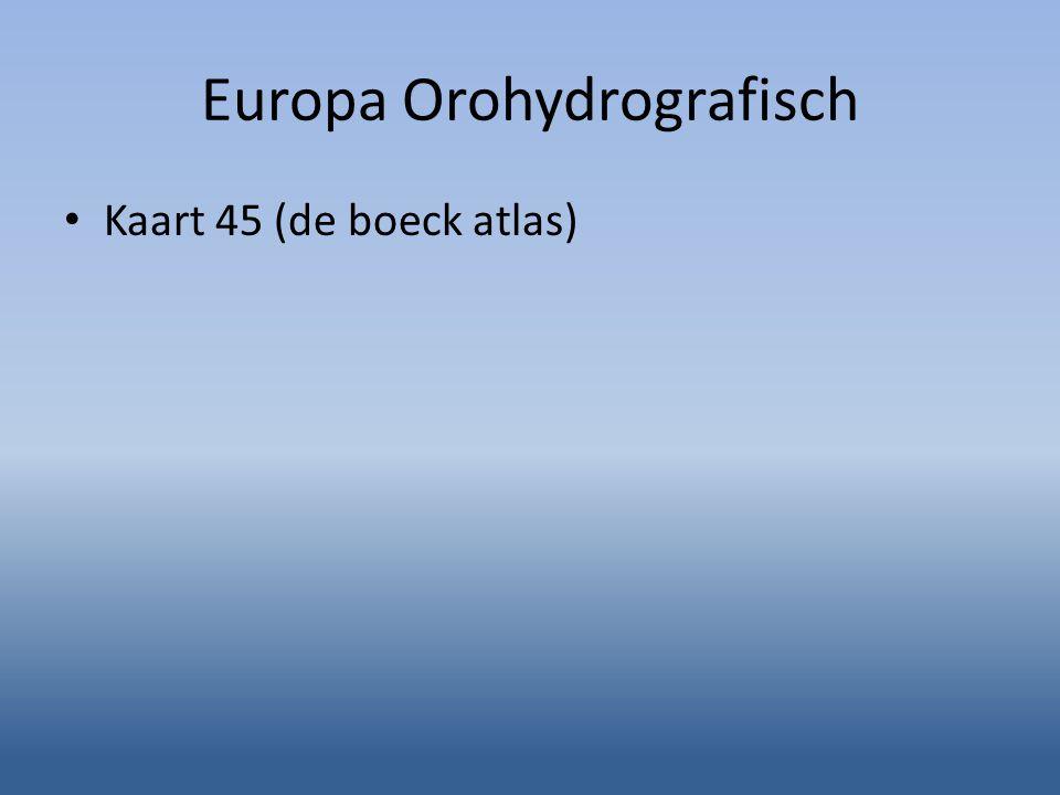 Europa Orohydrografisch
