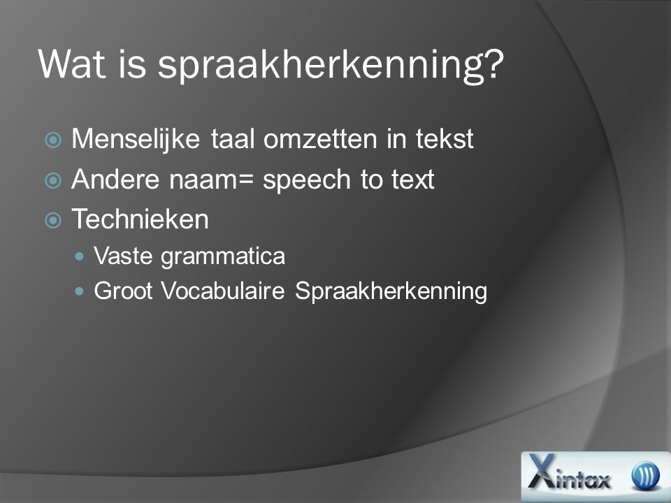 Wat is spraakherkenning