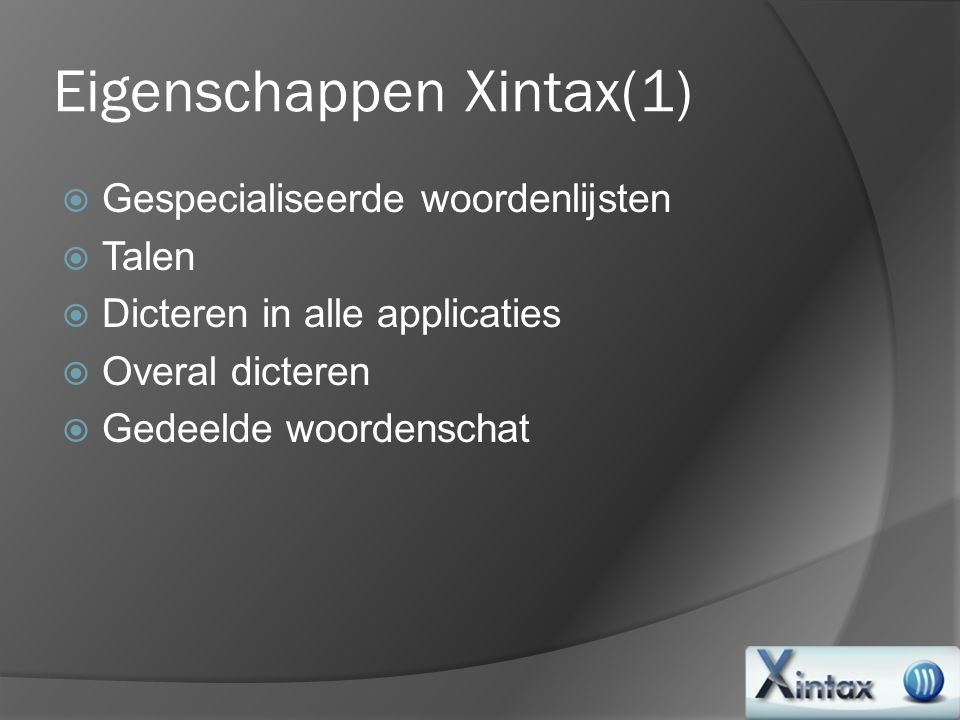 Eigenschappen Xintax(1)