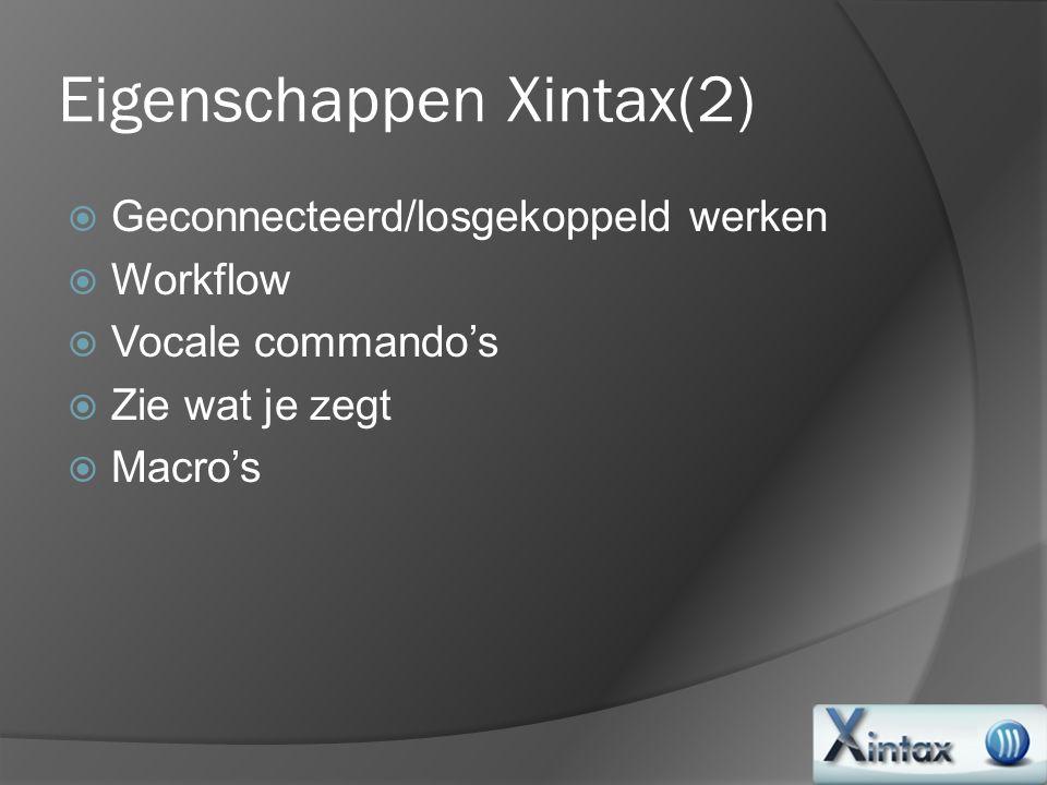 Eigenschappen Xintax(2)