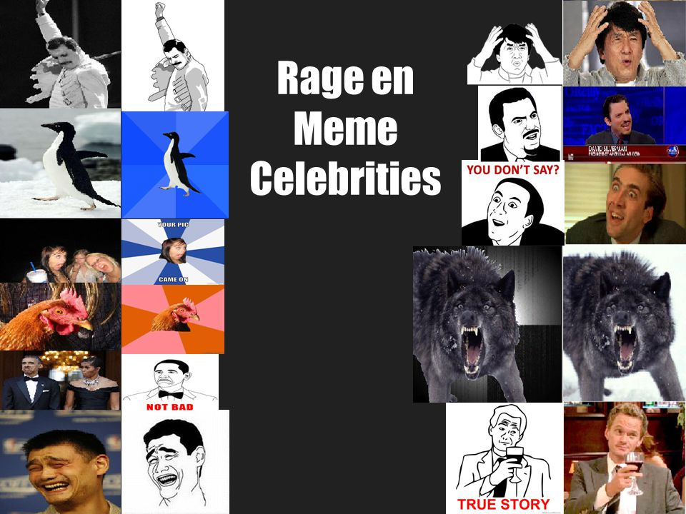 Rage en Meme Celebrities