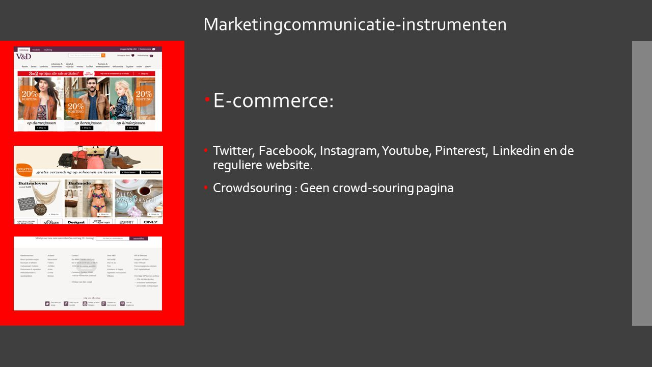 E-commerce: Marketingcommunicatie-instrumenten