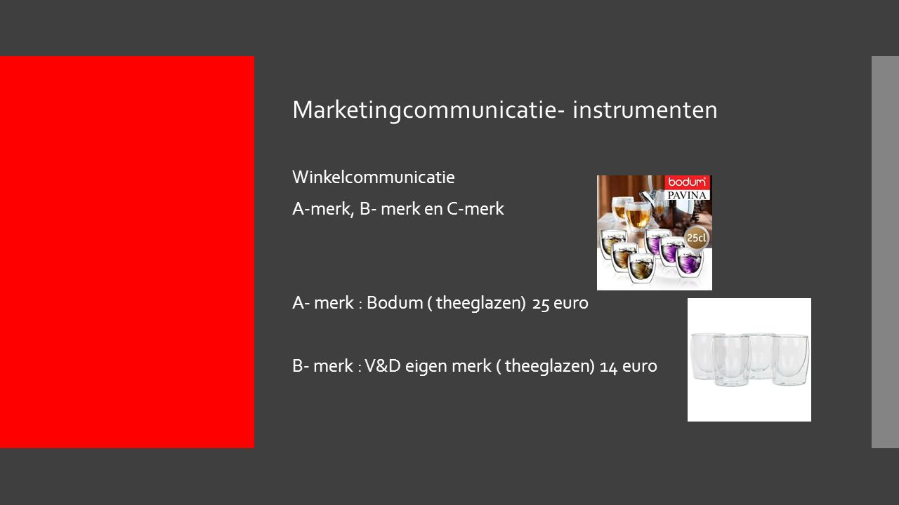 Marketingcommunicatie- instrumenten