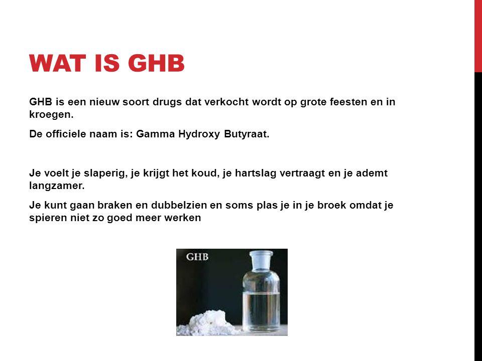 Wat is ghb