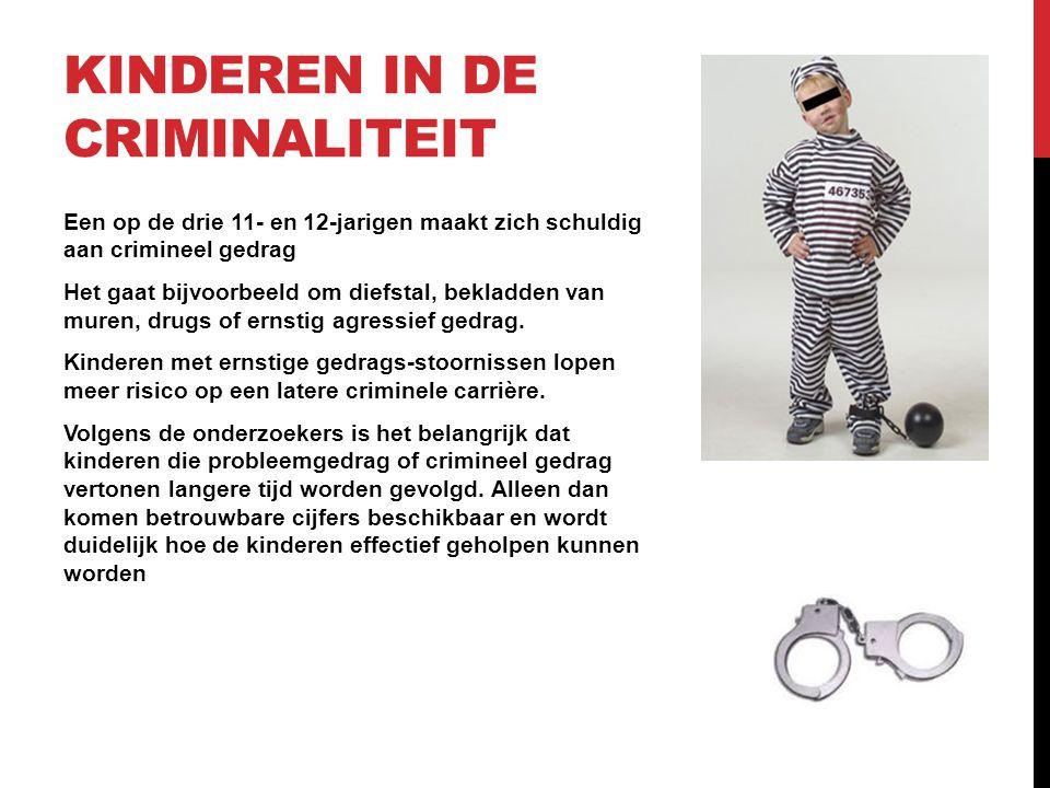 Kinderen in de criminaliteit