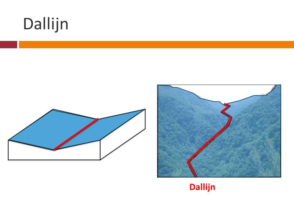 Dallijn Als twee hellingsvlakken dalen in de richting van de kniklijn is het een dallijn Dallijn