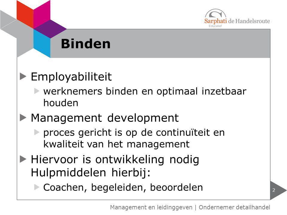 Binden Employabiliteit Management development
