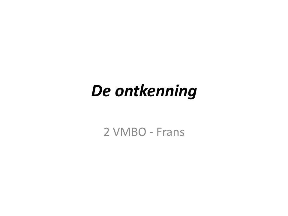 De ontkenning 2 VMBO - Frans