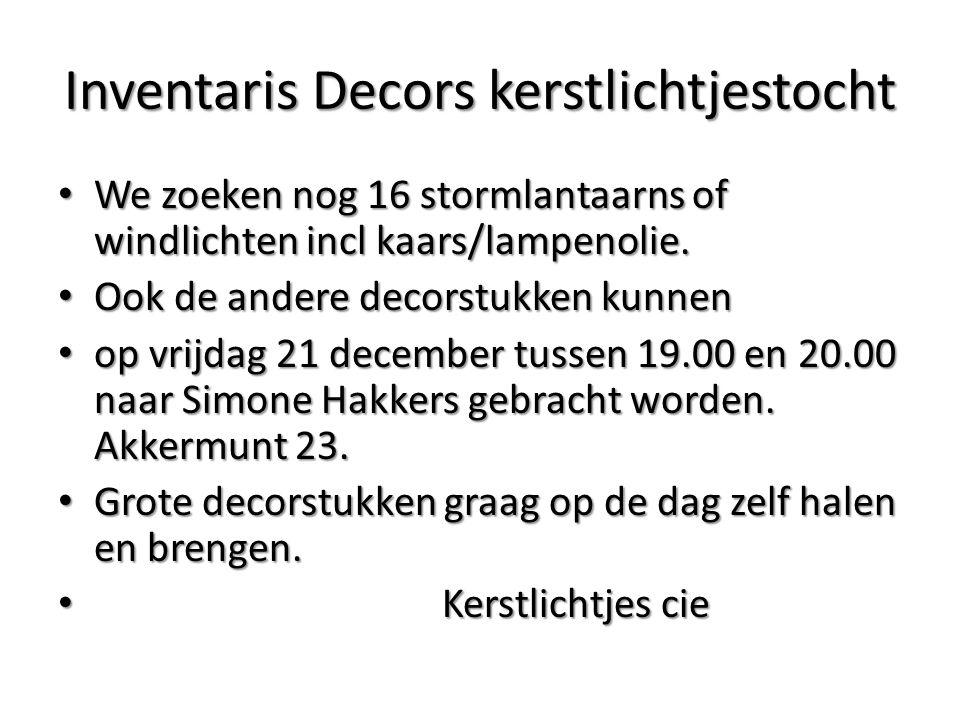 Inventaris Decors kerstlichtjestocht