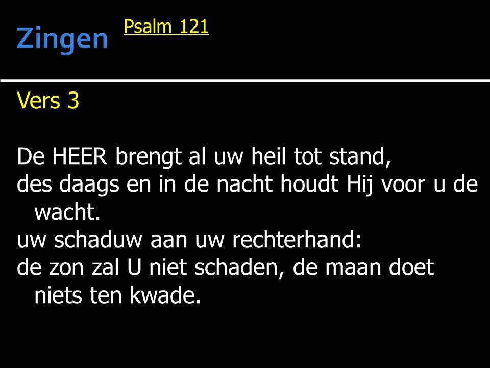 Zingen Vers 3 De HEER brengt al uw heil tot stand,