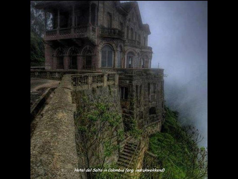 Hotel del Salto in Colombia (erg indrukwekkend)