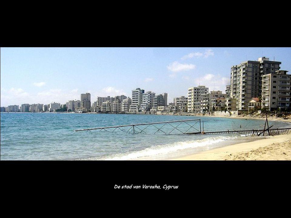 De stad van Varosha, Cyprus