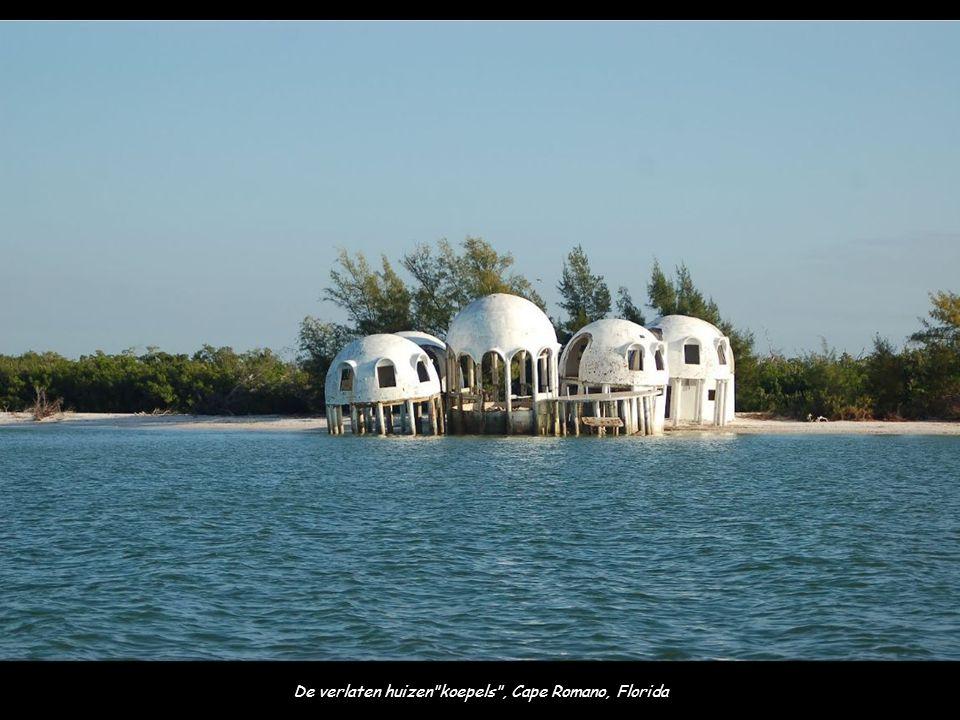 De verlaten huizen koepels , Cape Romano, Florida