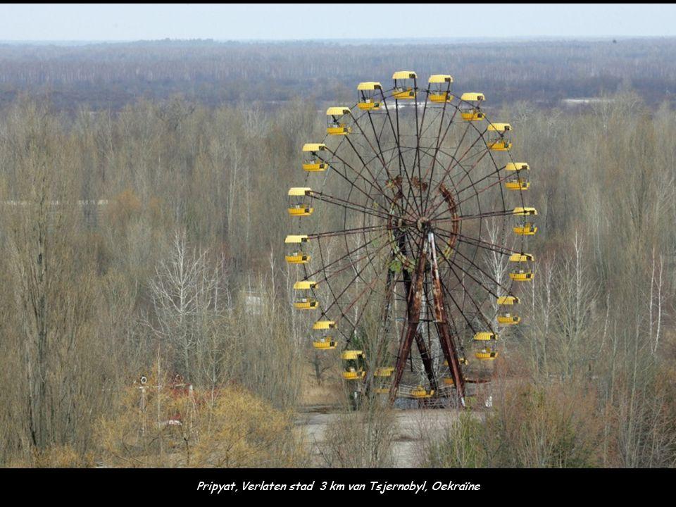 Pripyat, Verlaten stad 3 km van Tsjernobyl, Oekraïne