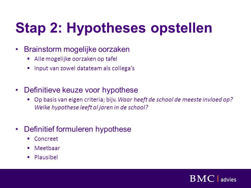 Stap 2: Hypotheses opstellen