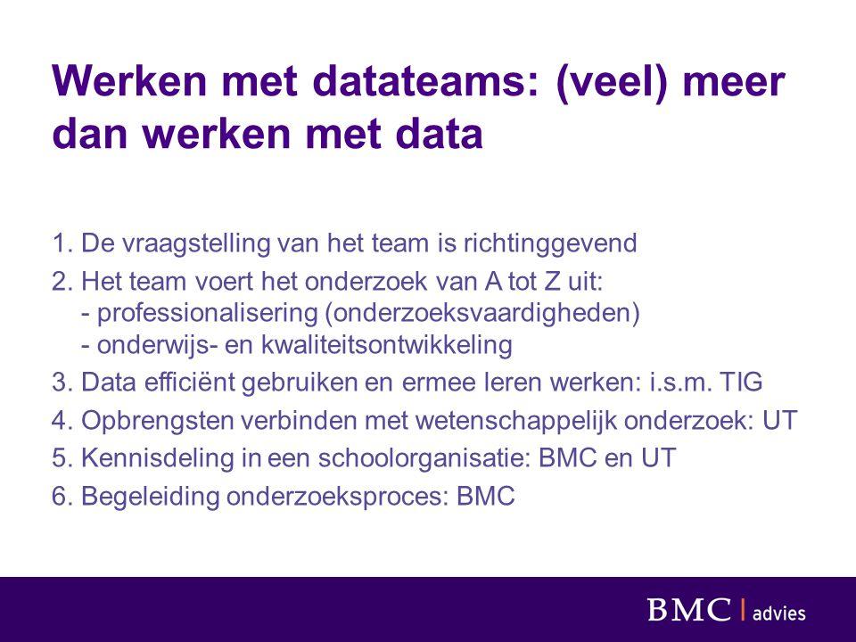 Werken met datateams: (veel) meer dan werken met data