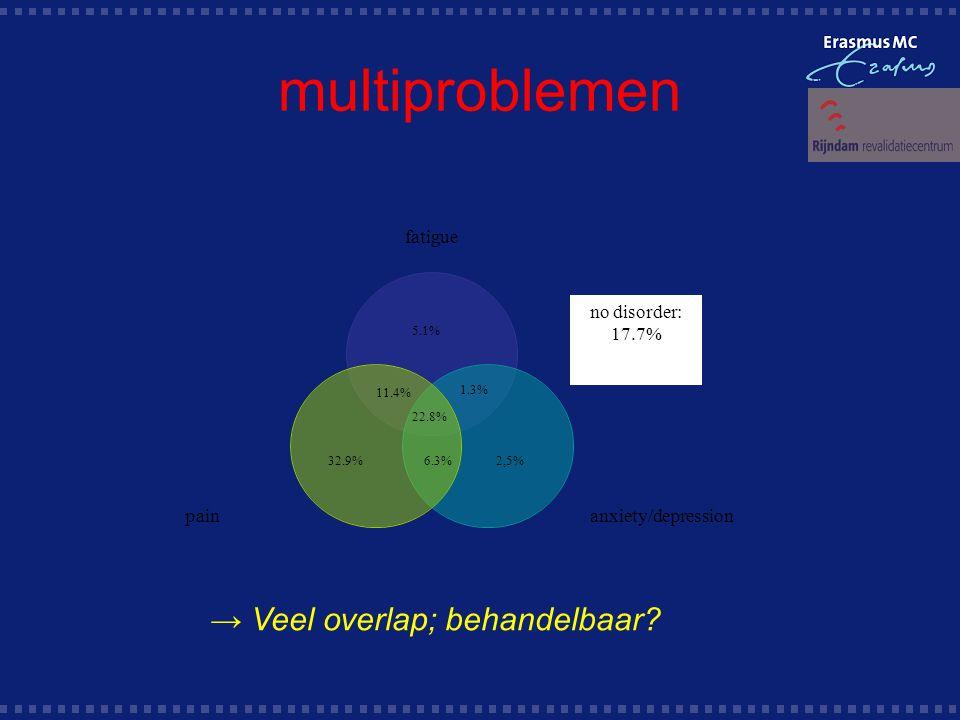 multiproblemen → Veel overlap; behandelbaar