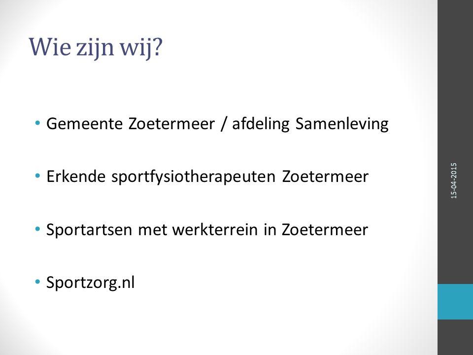 Wie zijn wij Gemeente Zoetermeer / afdeling Samenleving