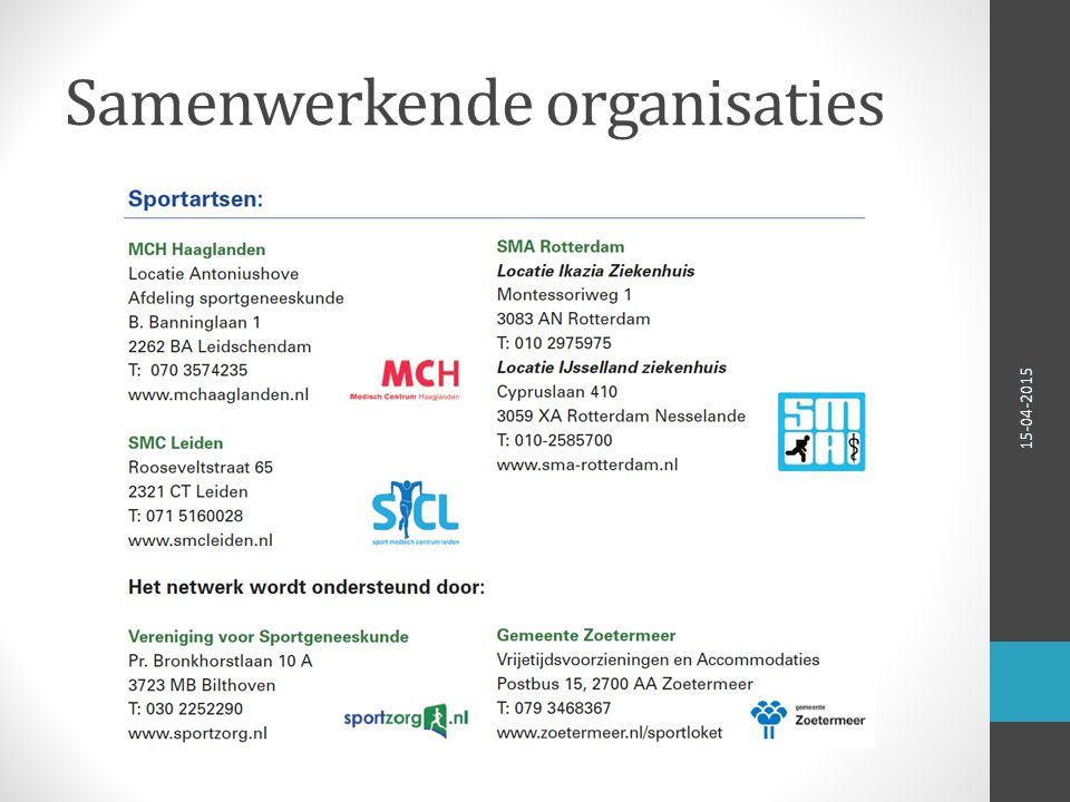 Samenwerkende organisaties