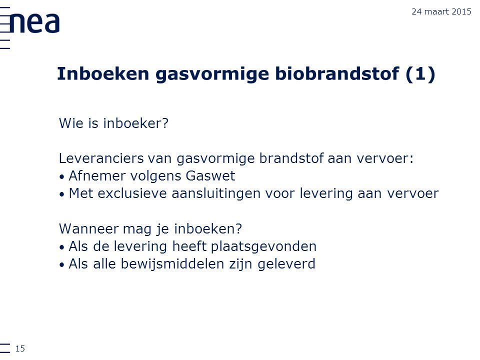 Inboeken gasvormige biobrandstof (1)