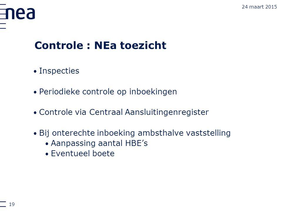 Controle : NEa toezicht