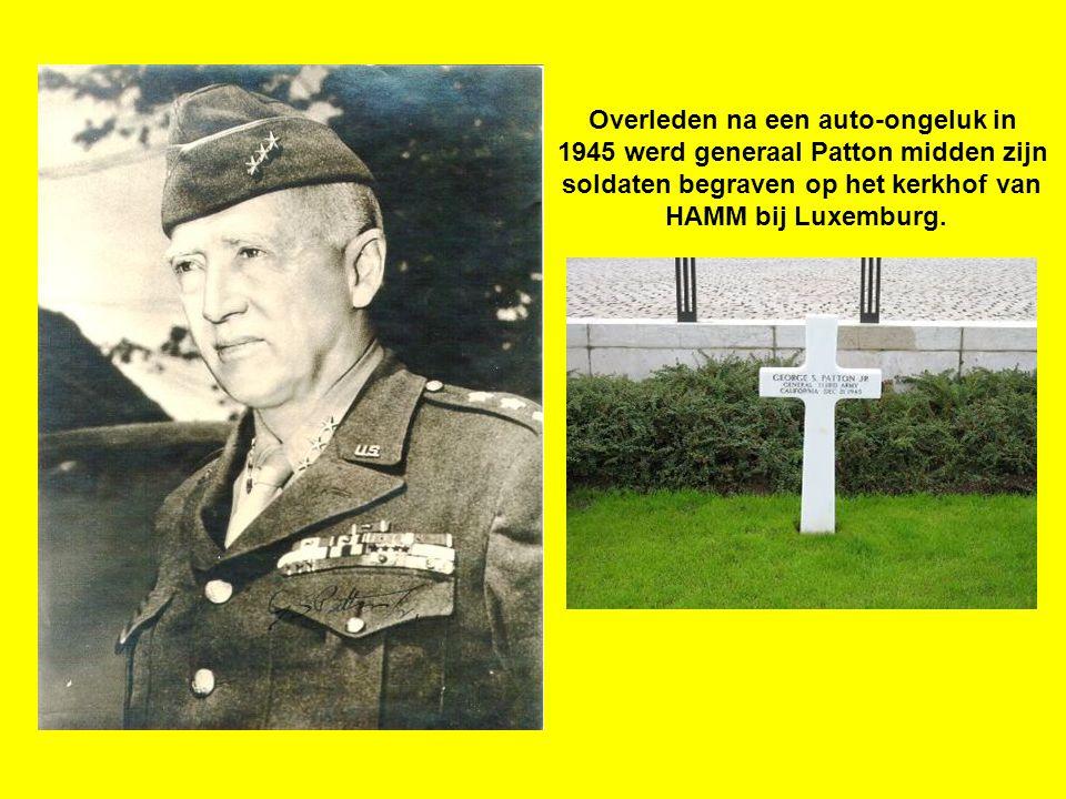 Overleden na een auto-ongeluk in 1945 werd generaal Patton midden zijn