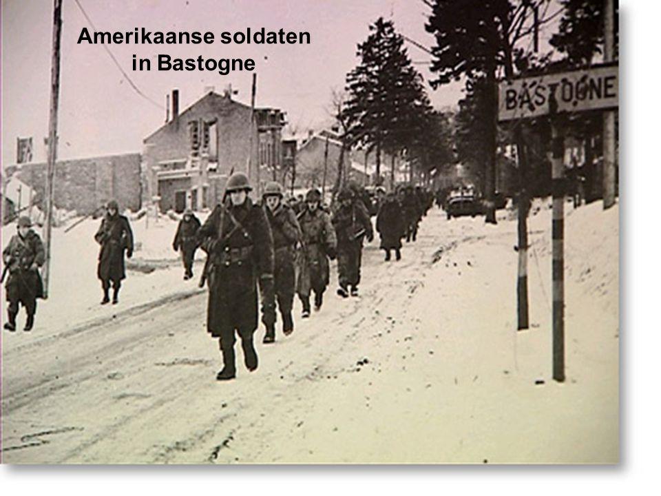 Amerikaanse soldaten in Bastogne
