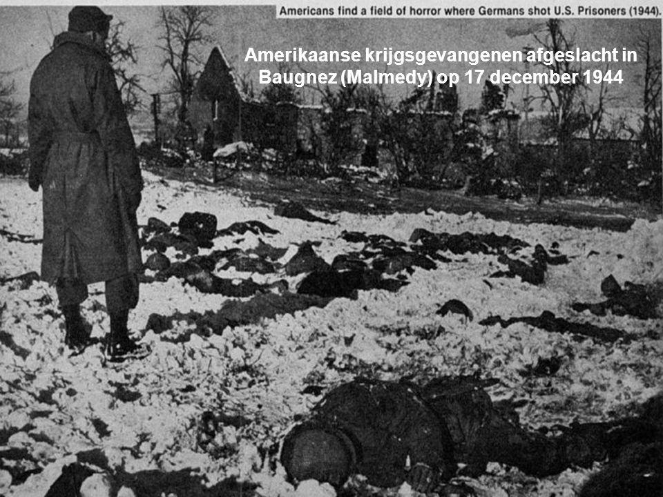 Amerikaanse krijgsgevangenen afgeslacht in Baugnez (Malmedy) op 17 december 1944
