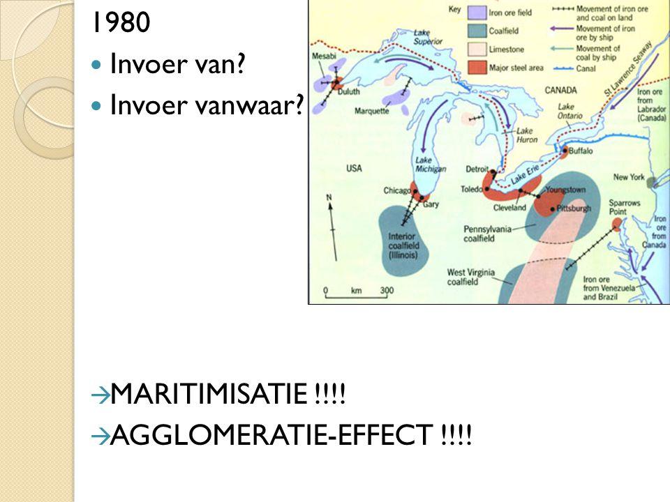 1980 Invoer van Invoer vanwaar MARITIMISATIE !!!! AGGLOMERATIE-EFFECT !!!!