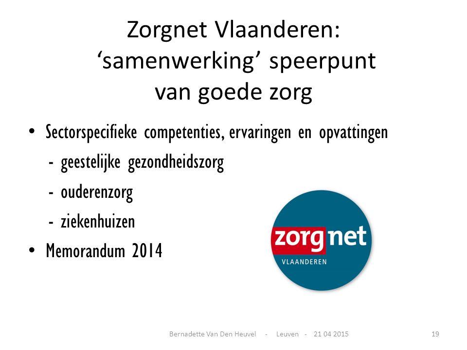 Zorgnet Vlaanderen: 'samenwerking' speerpunt van goede zorg
