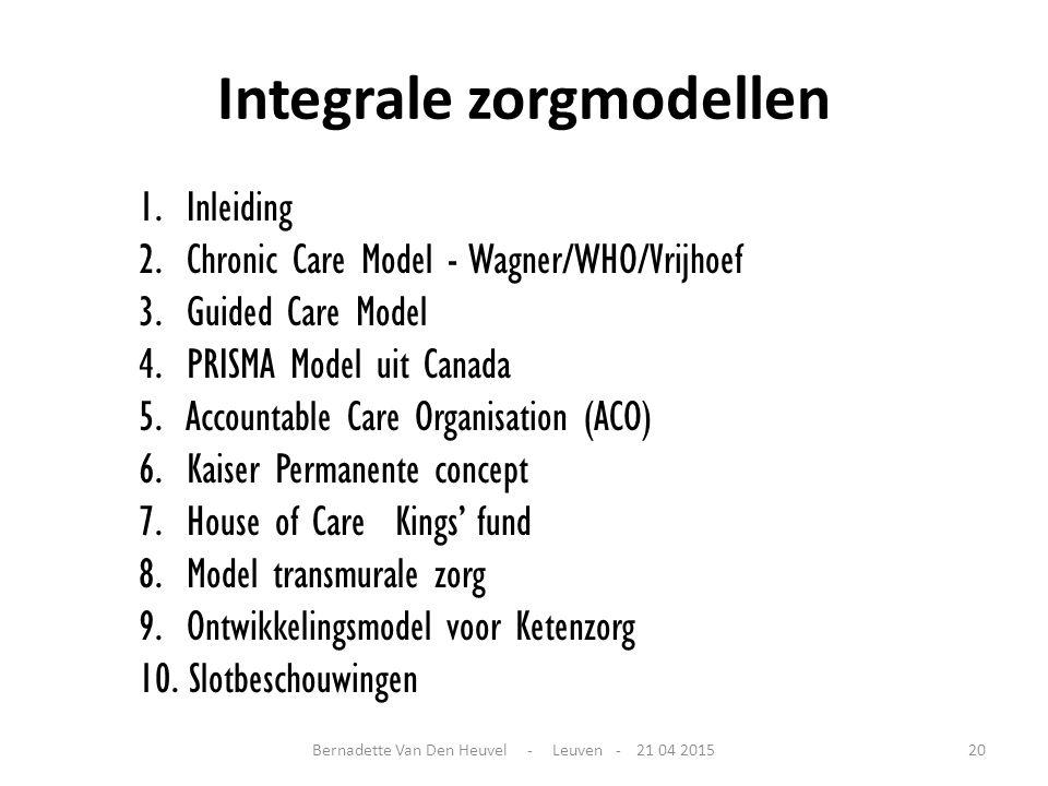Integrale zorgmodellen