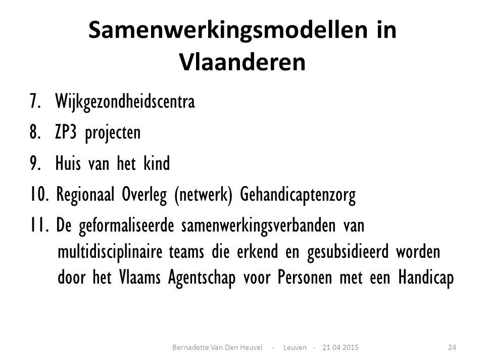Samenwerkingsmodellen in Vlaanderen