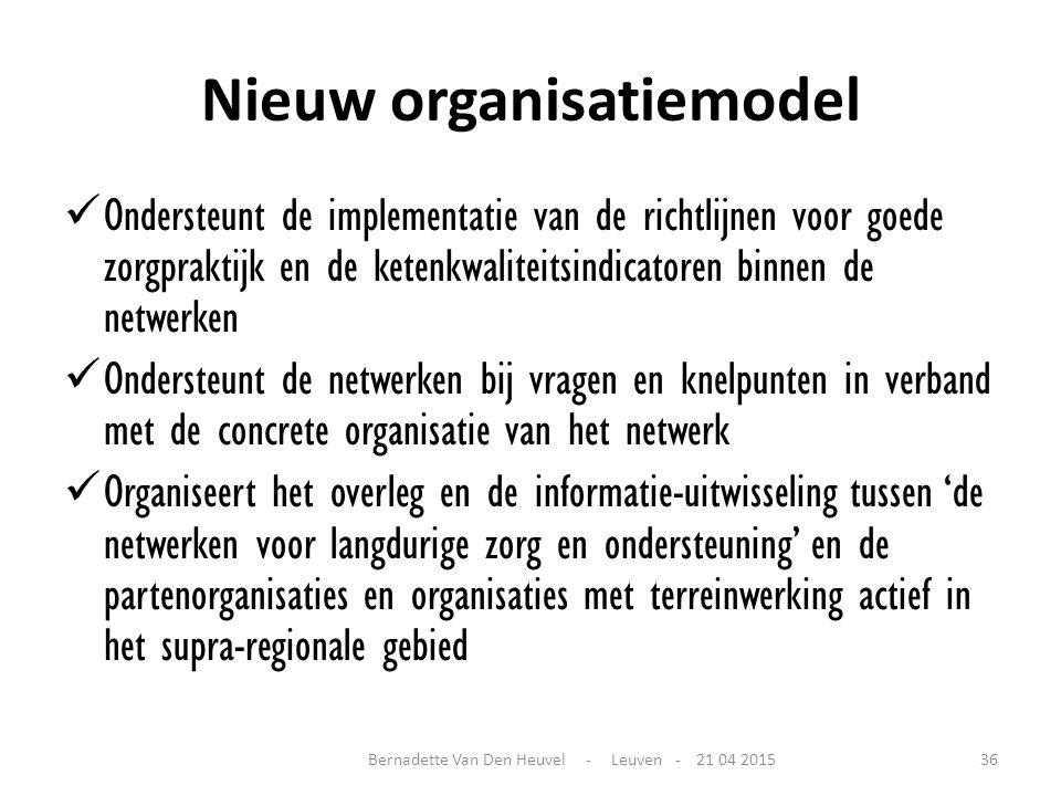 Nieuw organisatiemodel