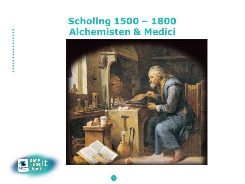 Scholing 1500 – 1800 Alchemisten & Medici