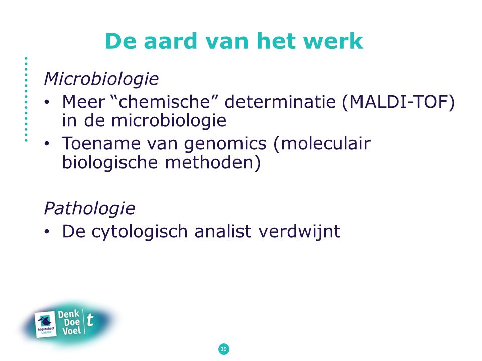 De aard van het werk Microbiologie