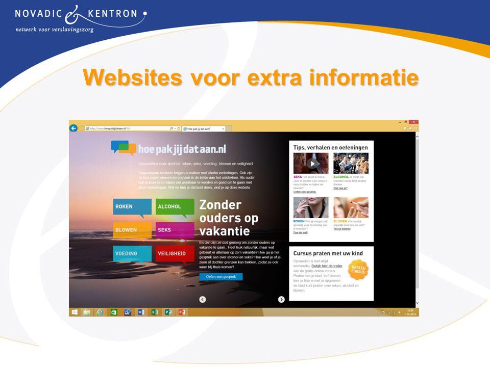 Websites voor extra informatie