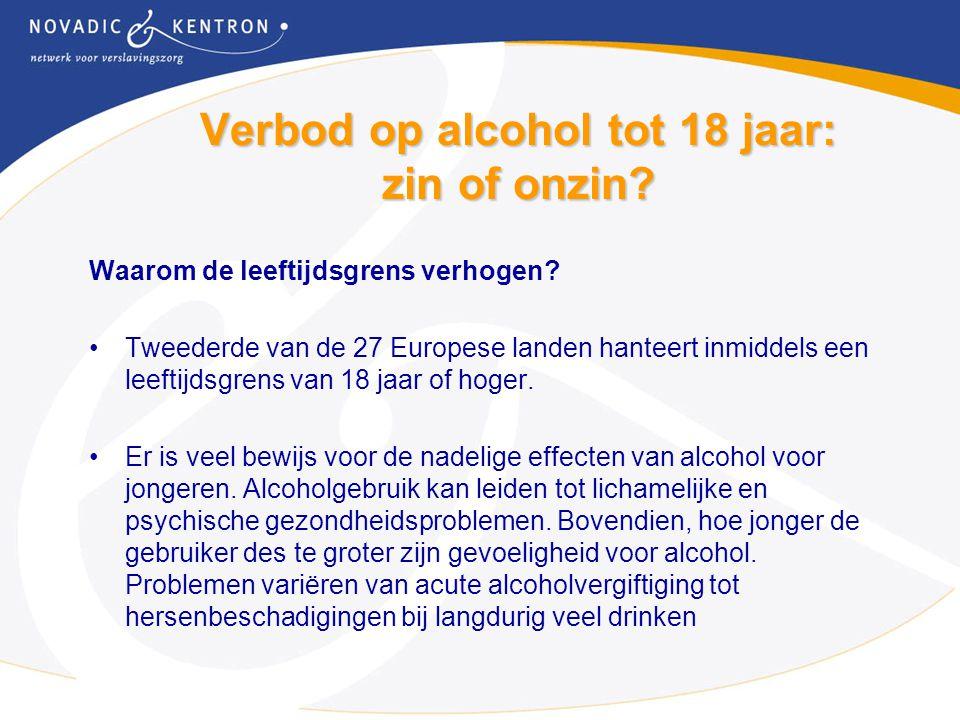 Verbod op alcohol tot 18 jaar: zin of onzin