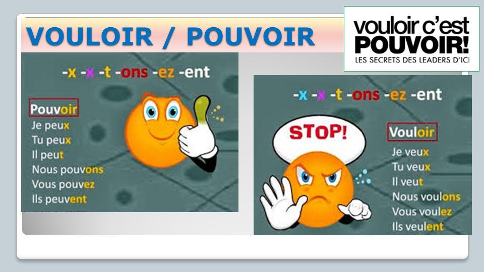 VOULOIR / POUVOIR