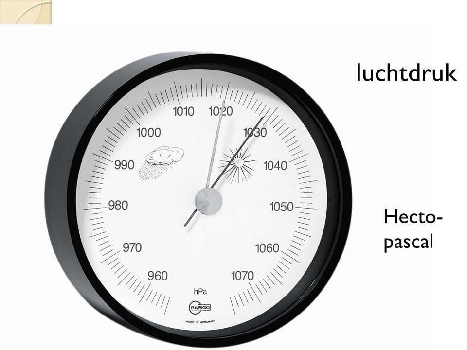 luchtdruk Hecto-pascal