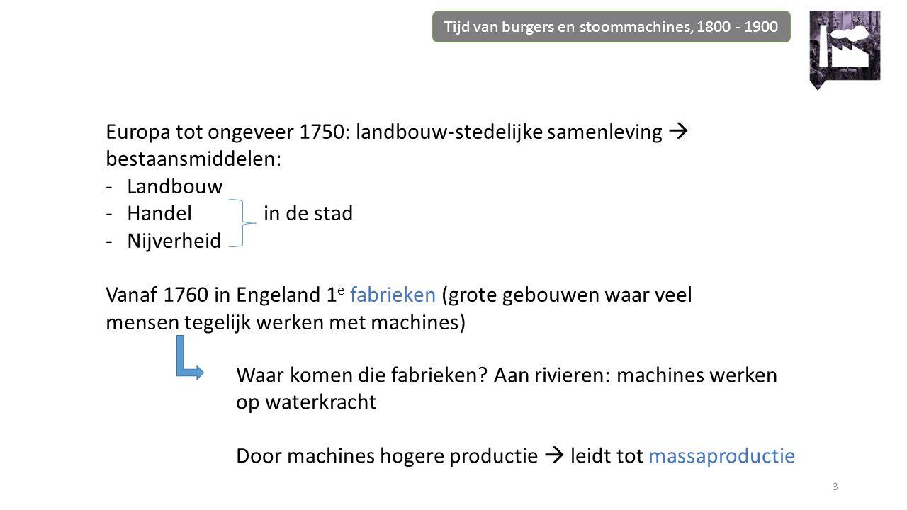 Tijd van burgers en stoommachines, 1800 - 1900