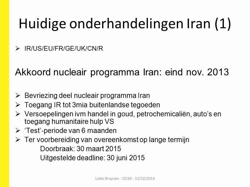 Huidige onderhandelingen Iran (1)